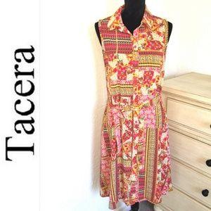 Multicolor patterned Dress ll Tacera